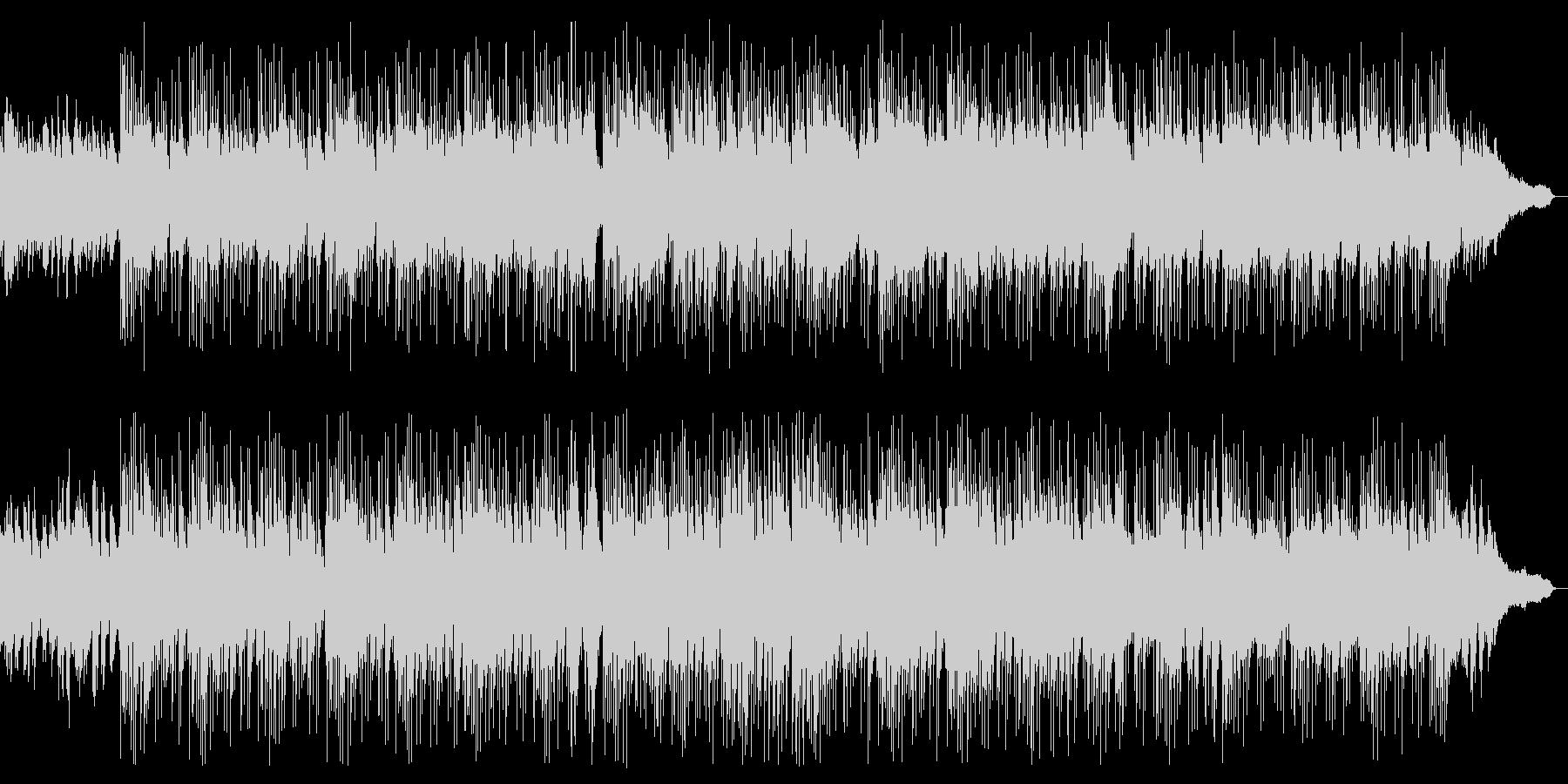 宇宙空間・波のようなピアノ曲の未再生の波形