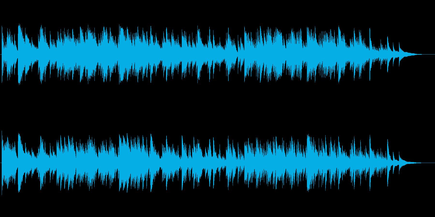【月の影】月光モチーフのサスペンスピアノの再生済みの波形
