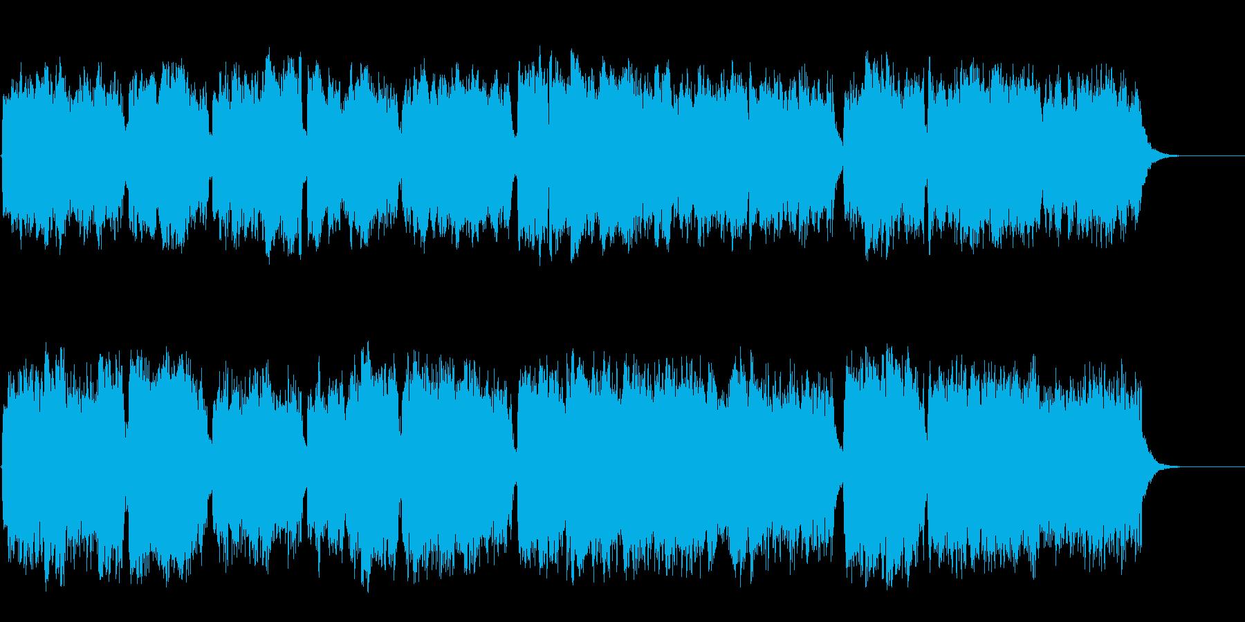 オルガンの音が響く神聖なクラシックの再生済みの波形