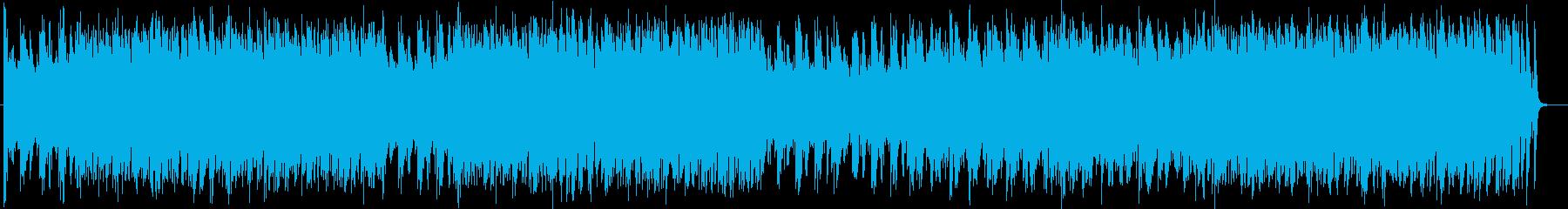 近未来的でメロデアスなシンセメインの曲の再生済みの波形