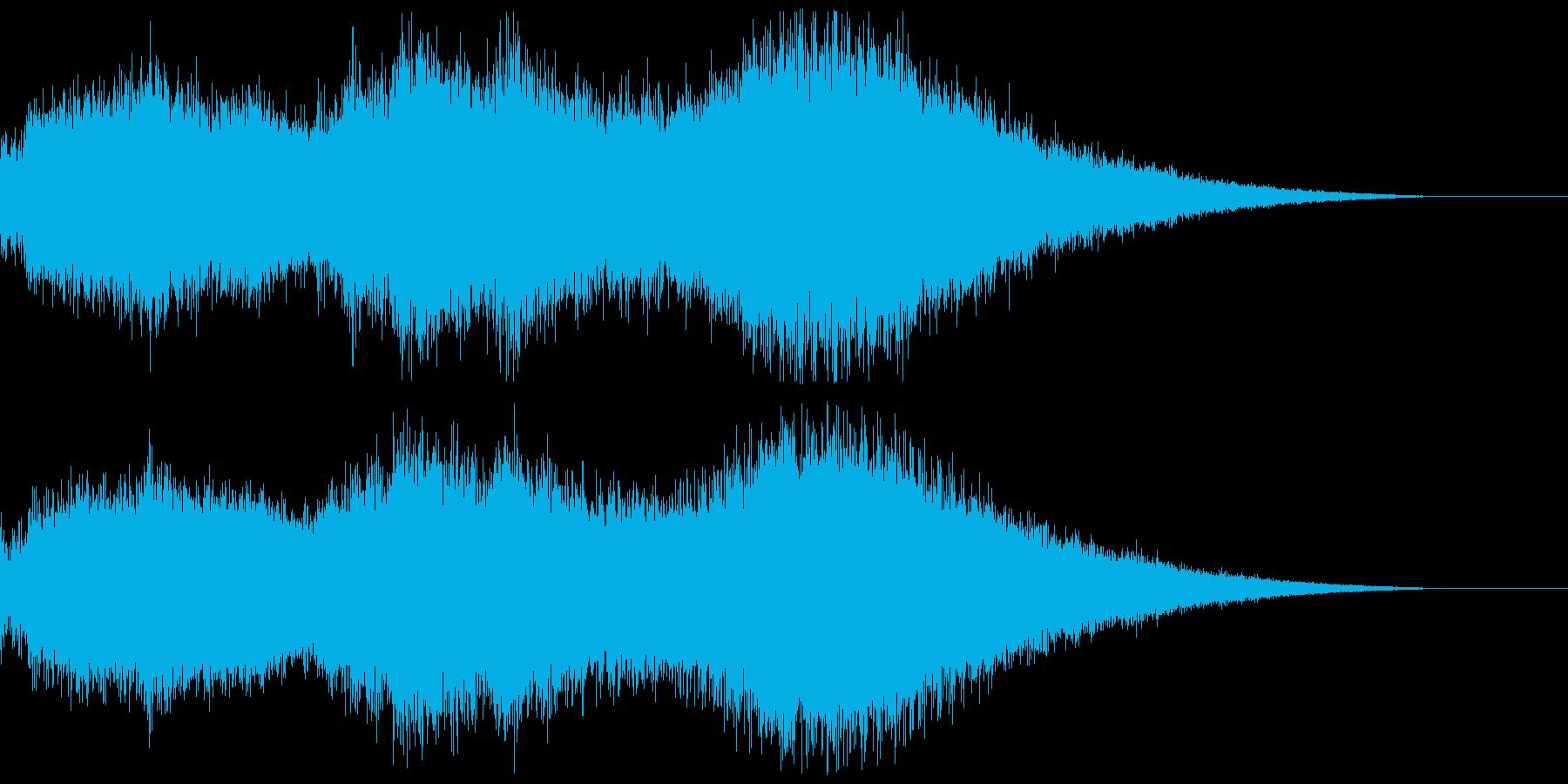 未来の戦争を思わせる効果音の再生済みの波形
