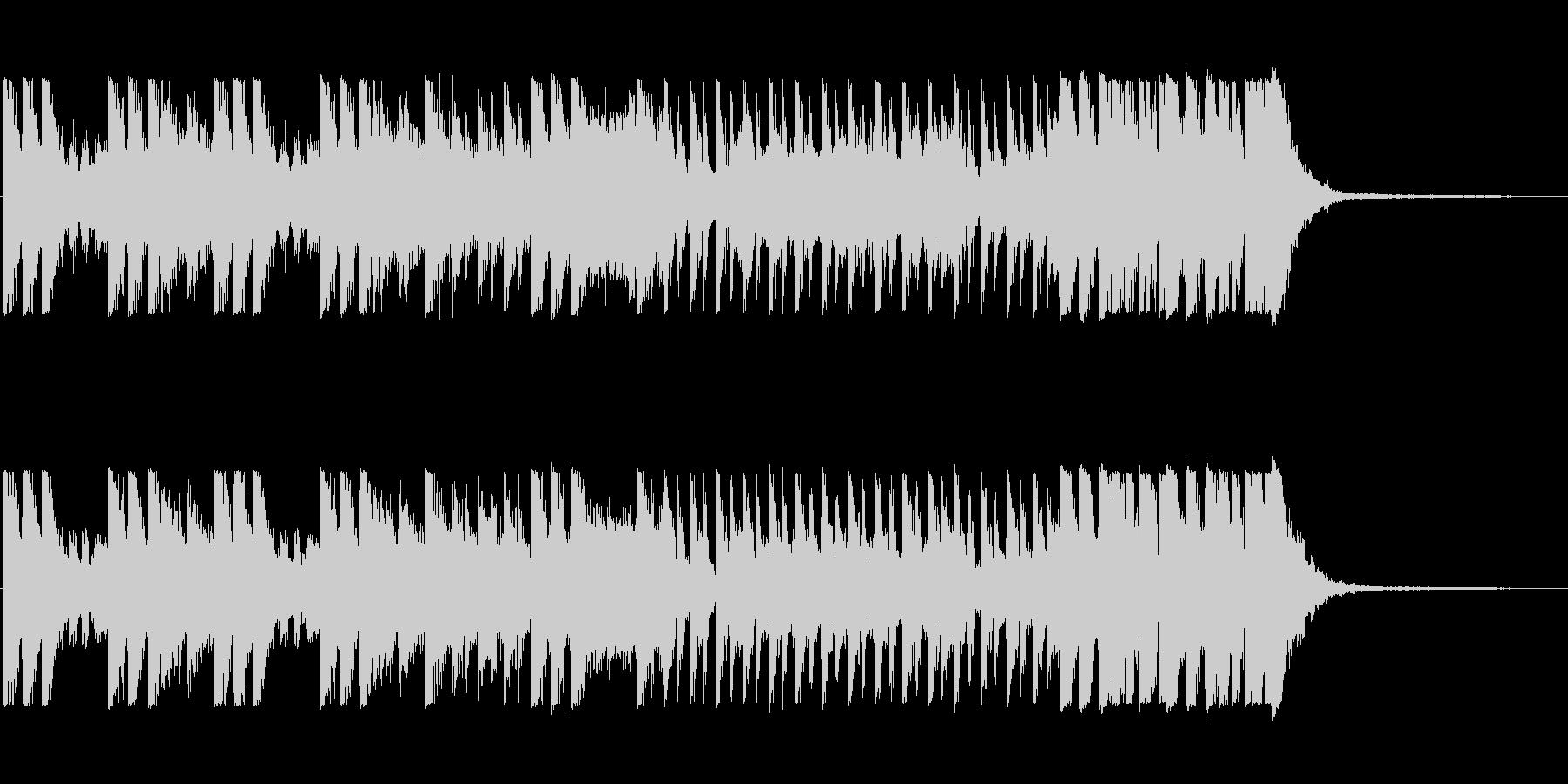 「オケヒットのキメが多めのBGM」の未再生の波形