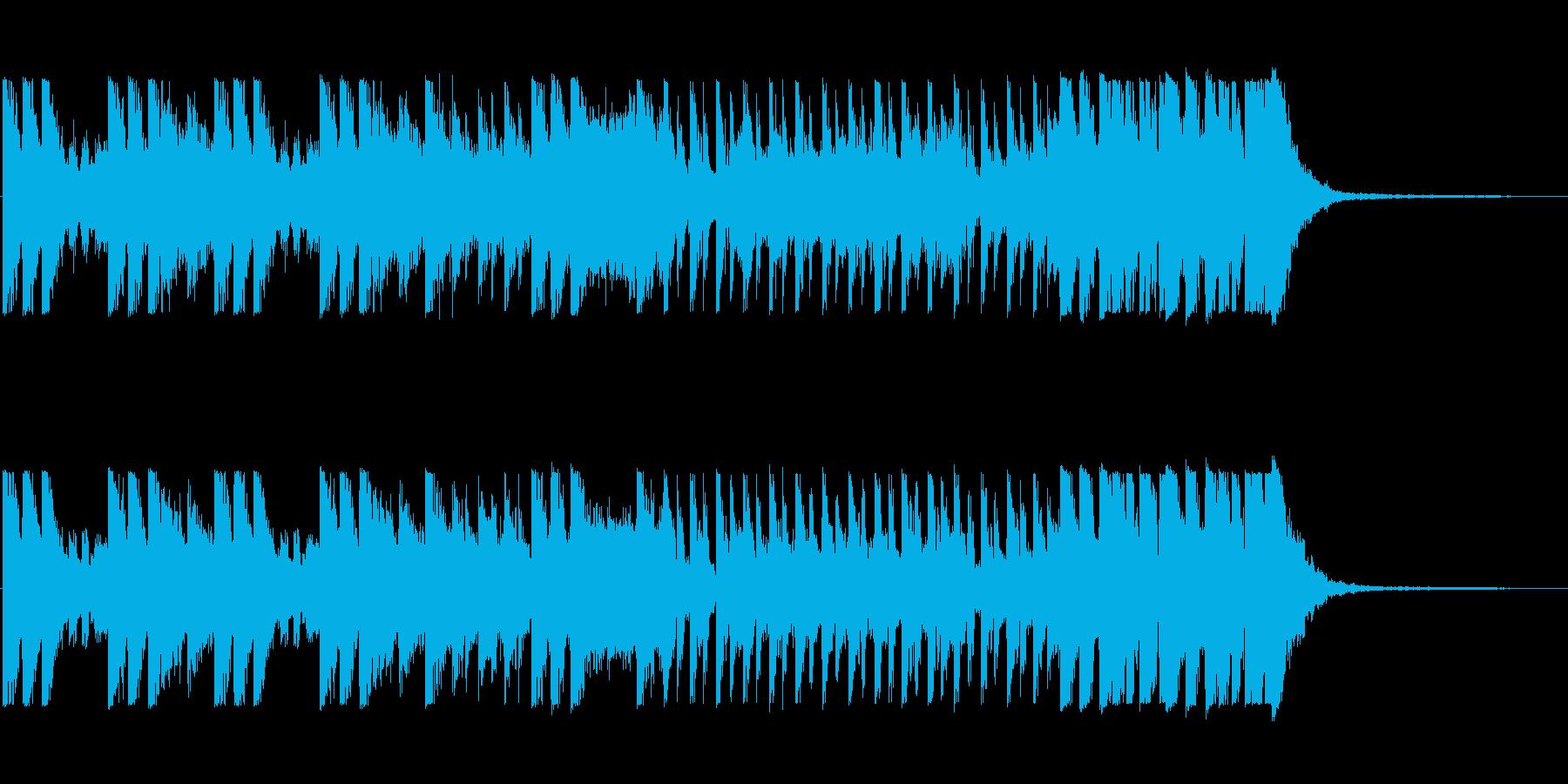 「オケヒットのキメが多めのBGM」の再生済みの波形