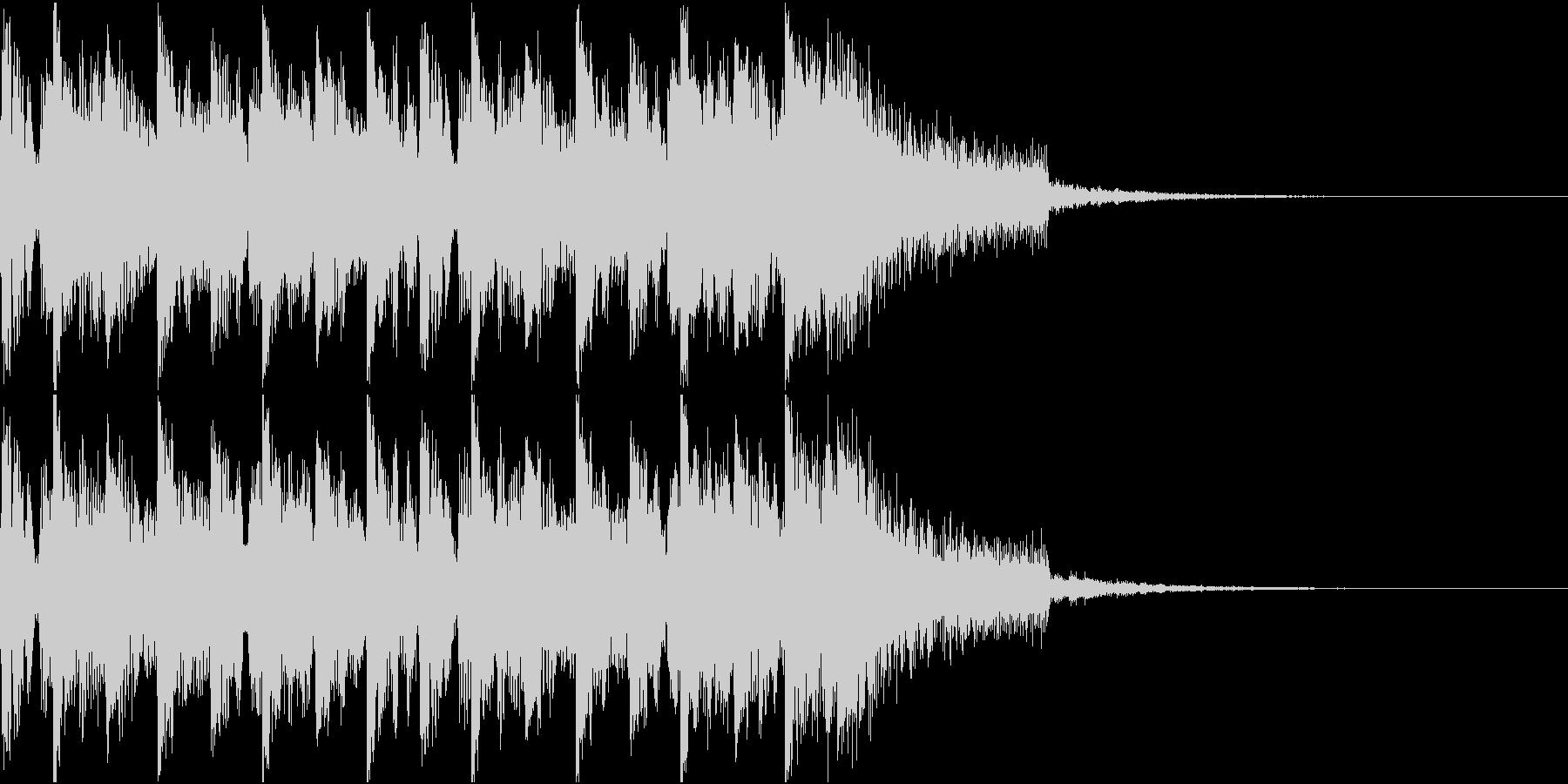ニュース ラジオ テクノジングルの未再生の波形