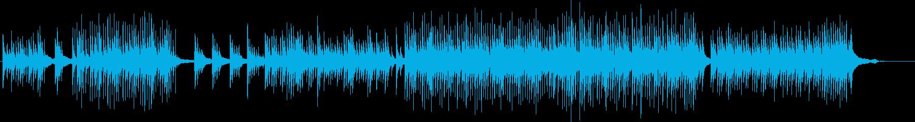 美しくミステリアスなピアノ曲の再生済みの波形