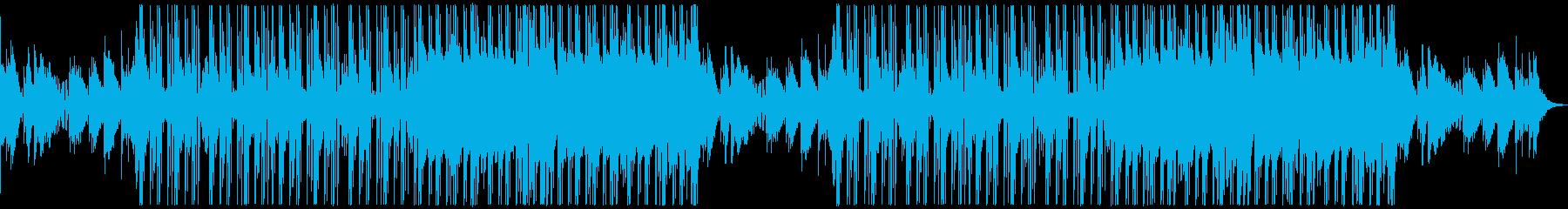 日常系 近未来やサイバー系のあったい曲の再生済みの波形