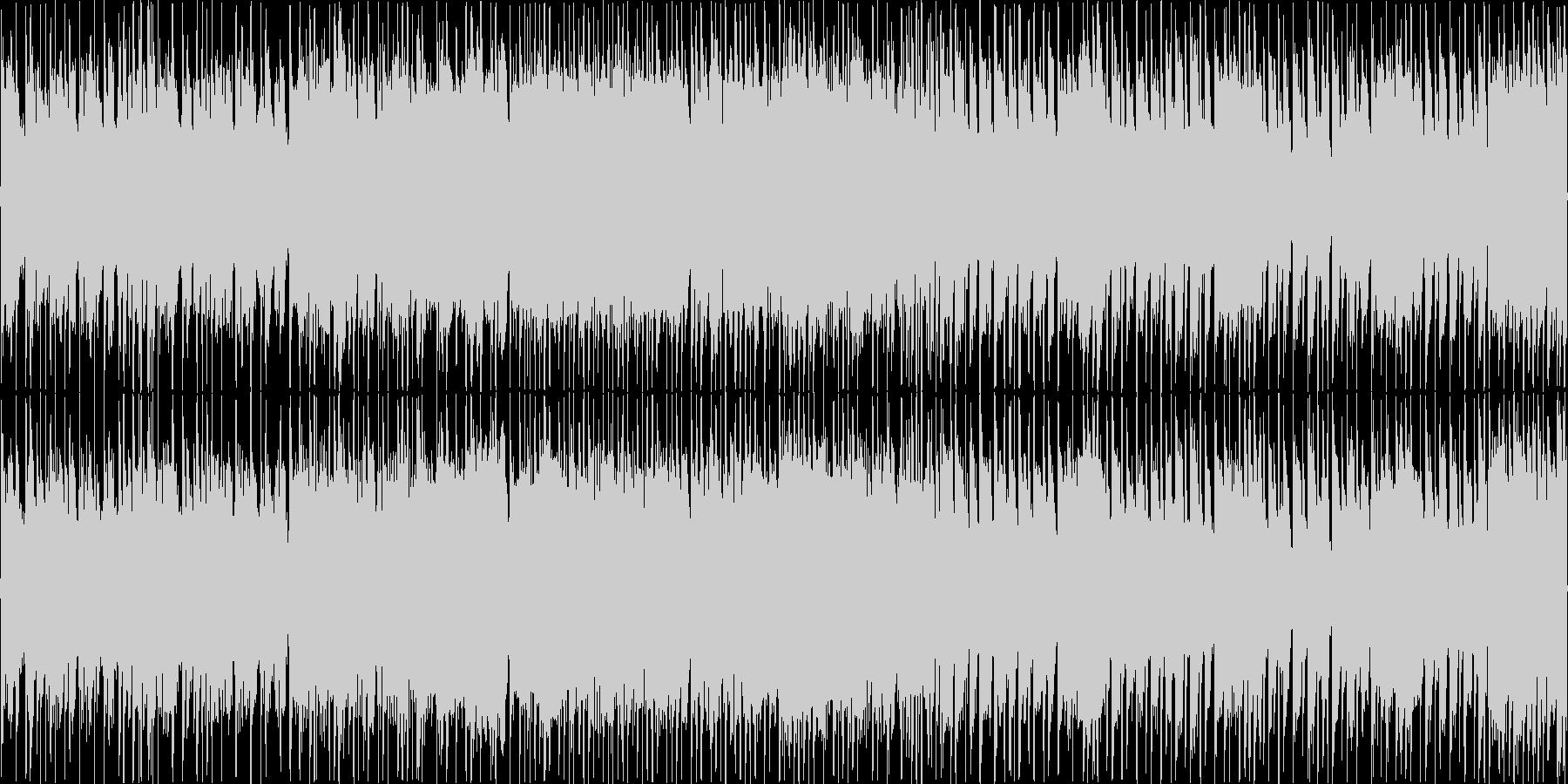ギターと電子音の混じったロックサウンドの未再生の波形