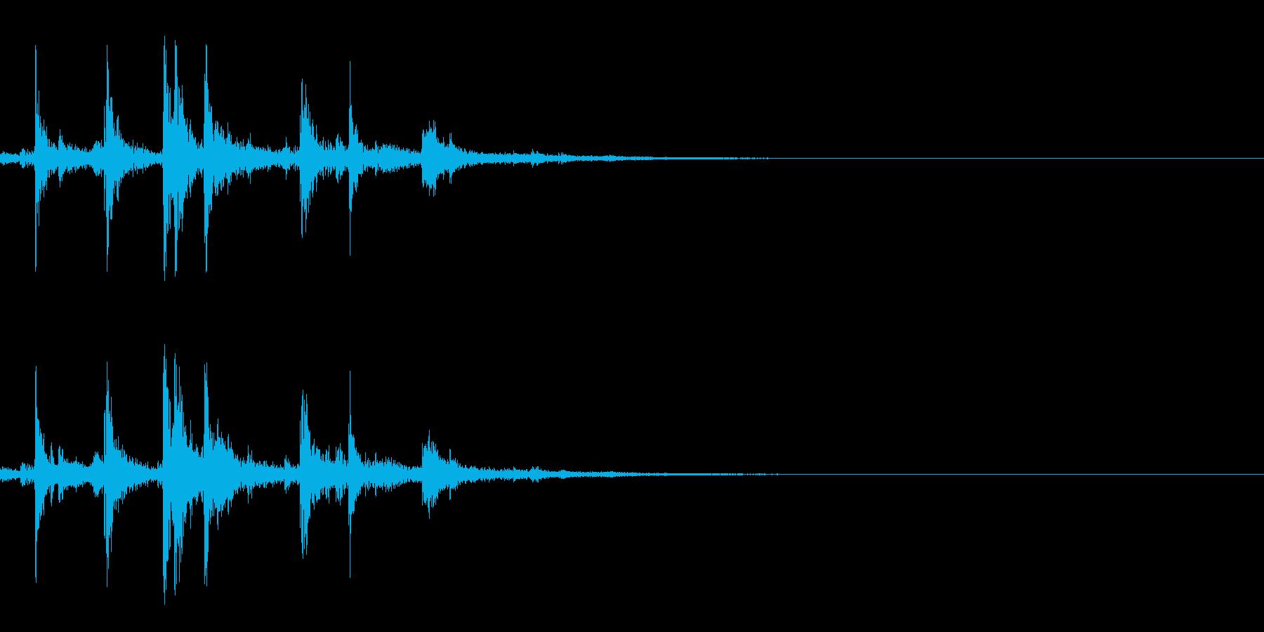 ボウリングのピンを倒す(ピン2本倒れる)の再生済みの波形