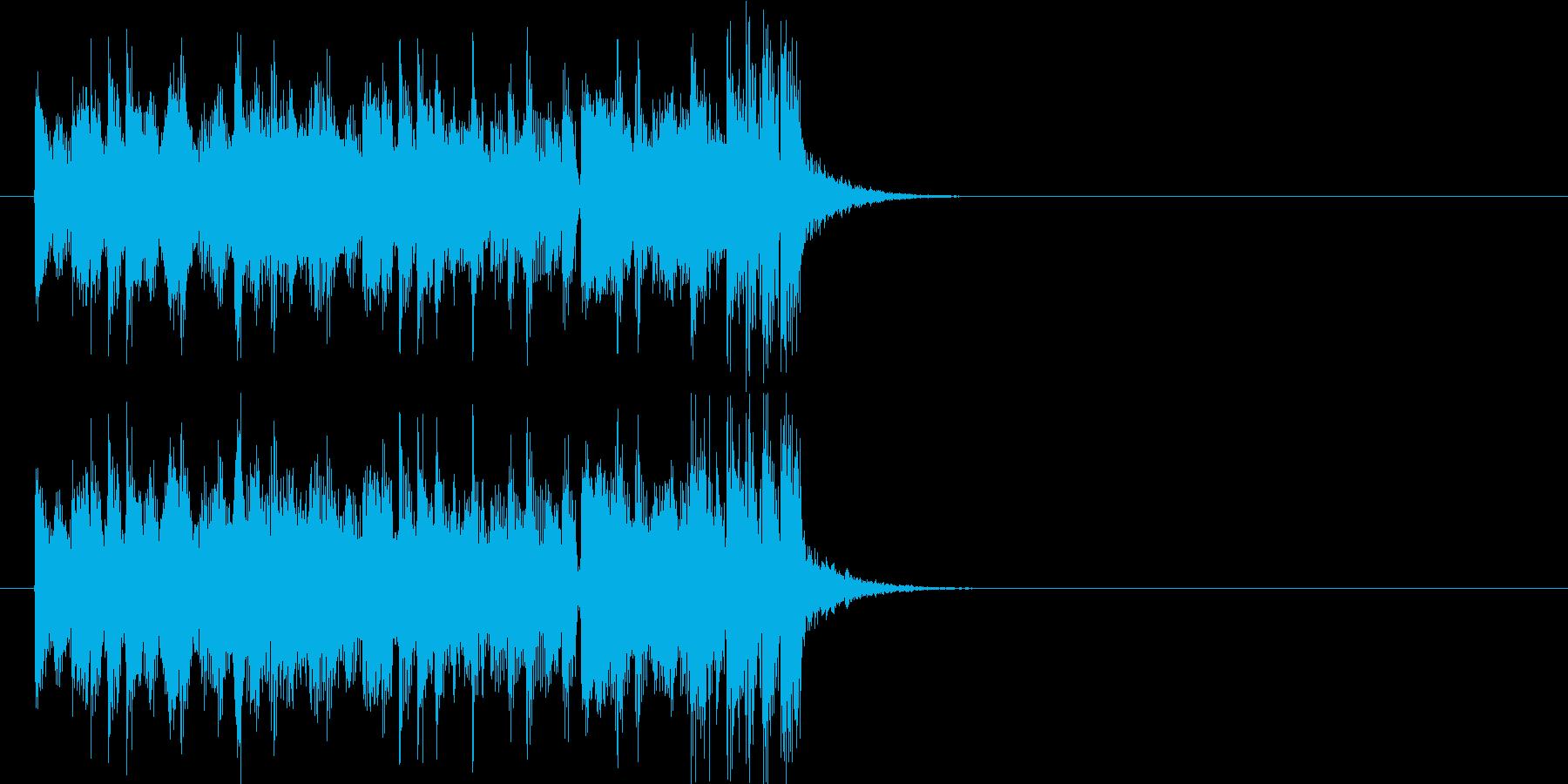テーマ 激しい スリル スピード 躍動の再生済みの波形