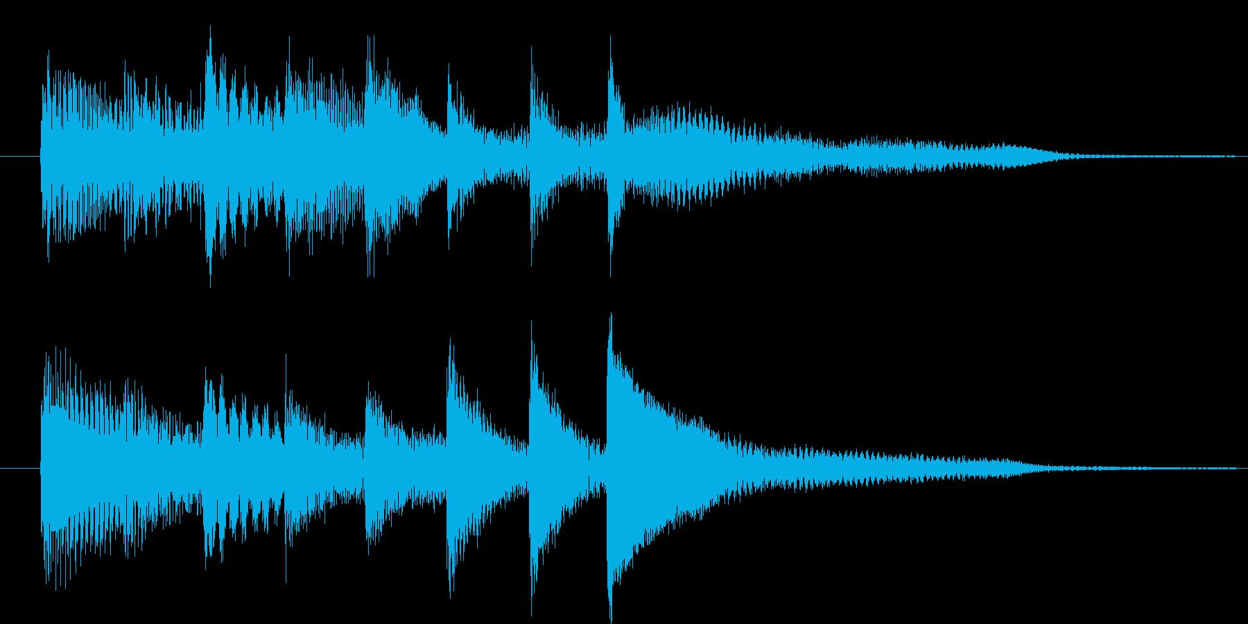 ピアノ転回音2の再生済みの波形