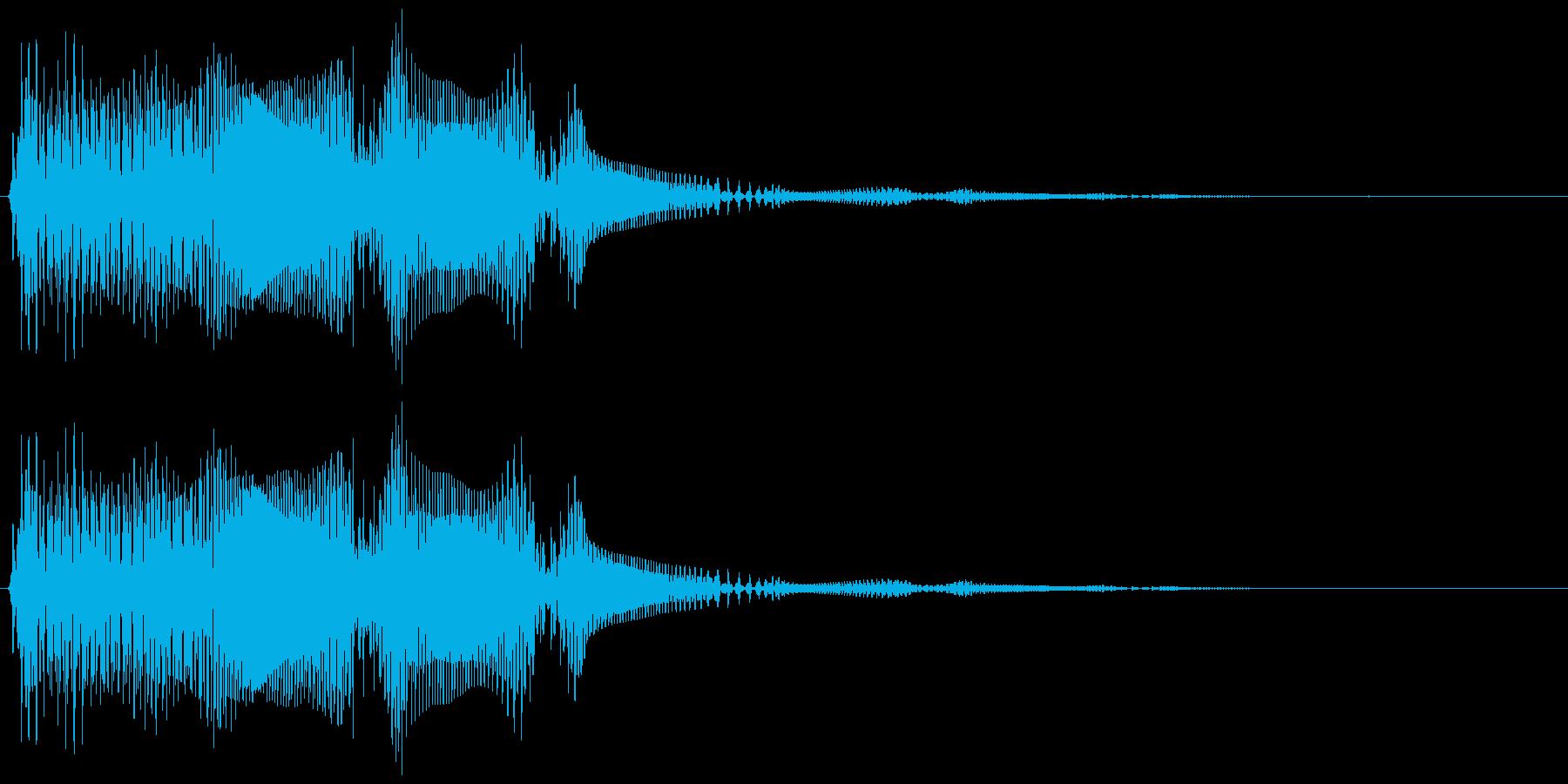 ブヨンヨン・・。はね返る・揺れる音(低)の再生済みの波形