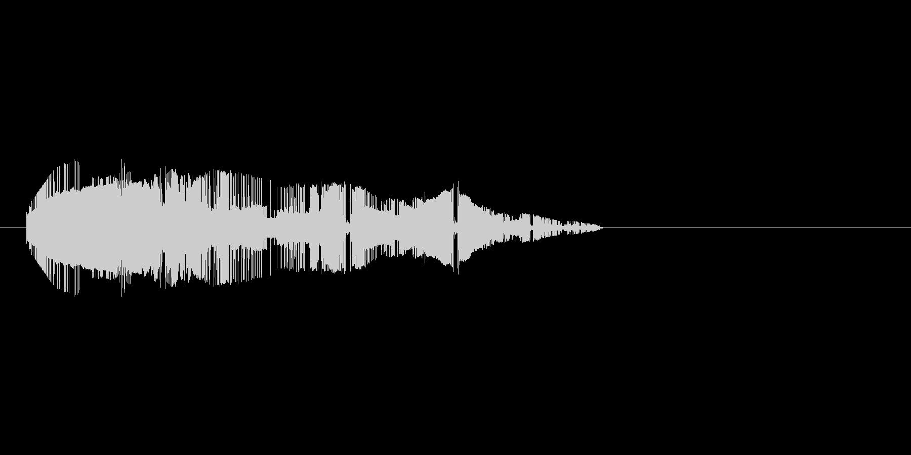 8bitの打撃 シュルシュルシュルの未再生の波形