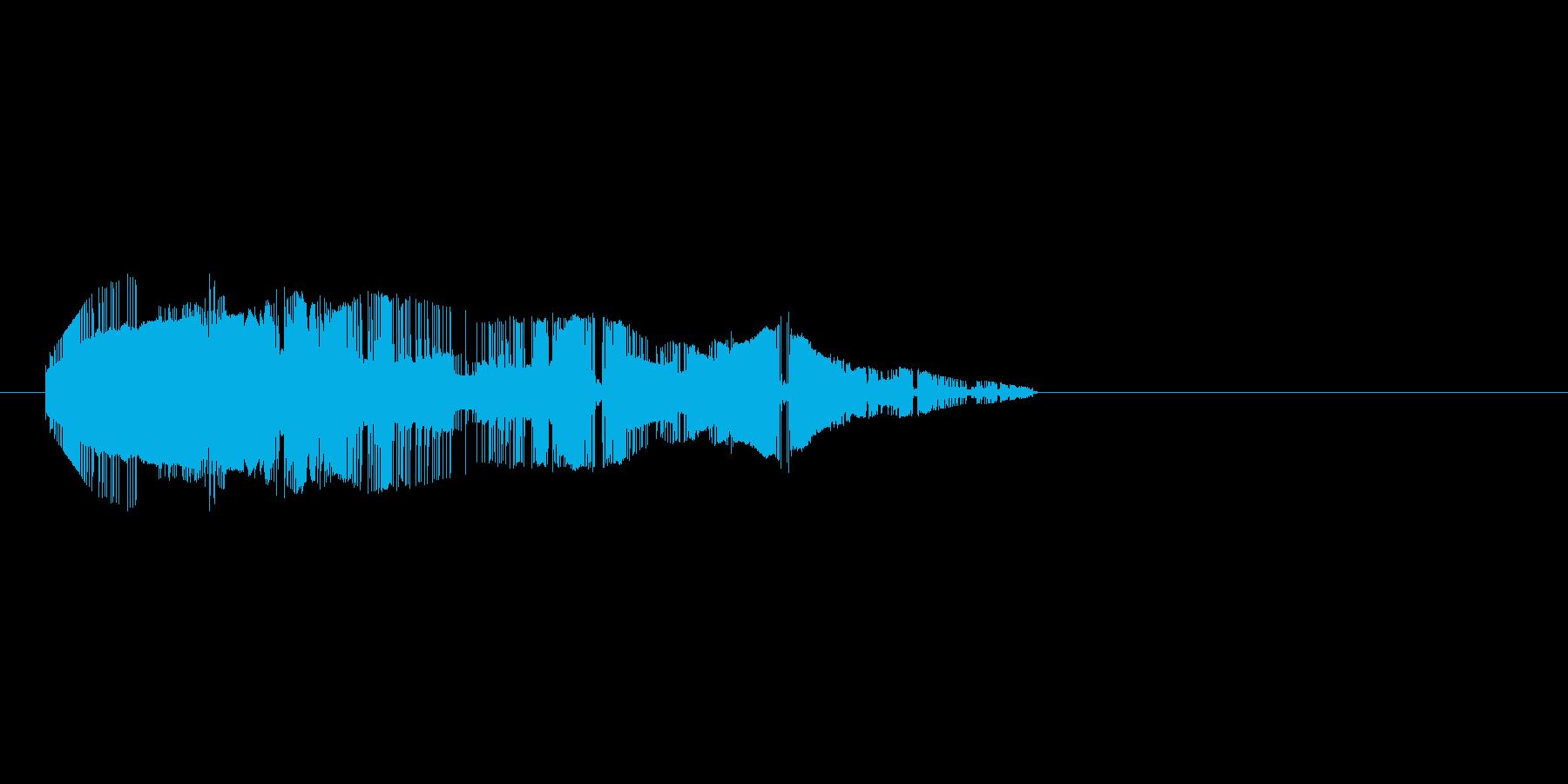 8bitの打撃 シュルシュルシュルの再生済みの波形