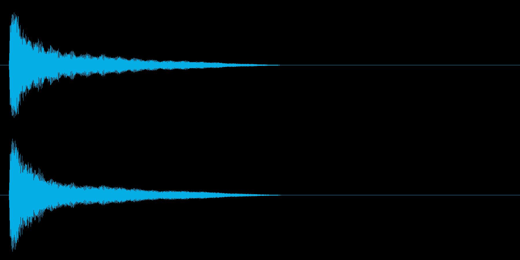 場面 寺の鐘の再生済みの波形