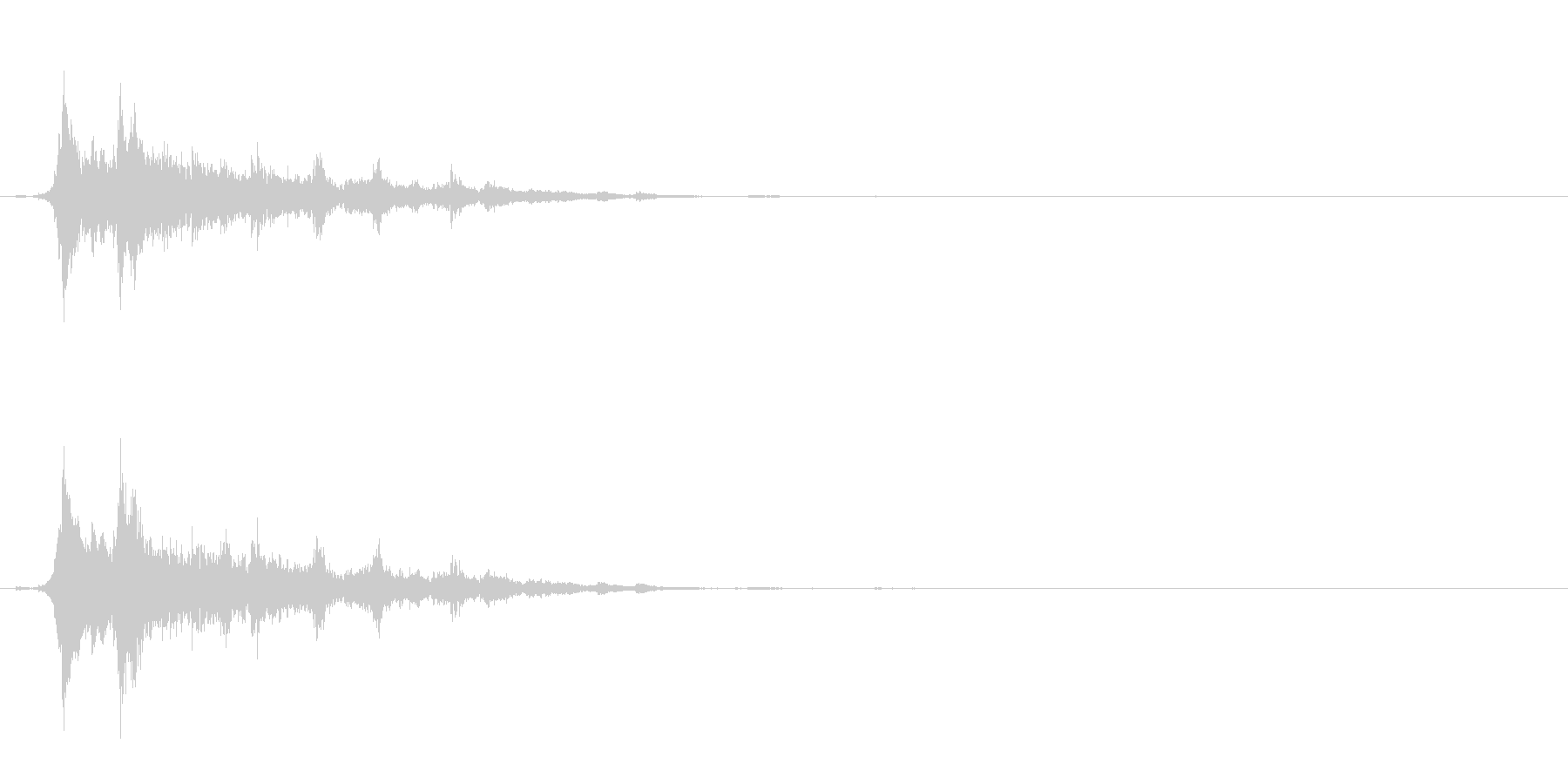 重めの鈴の音「えきろ」の単発音1の未再生の波形