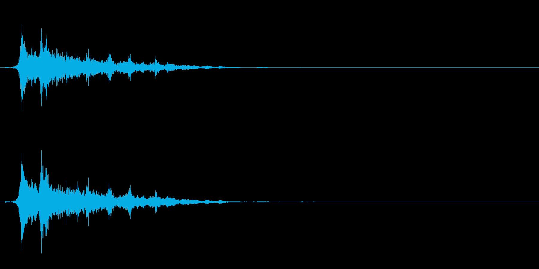 重めの鈴の音「えきろ」の単発音1の再生済みの波形