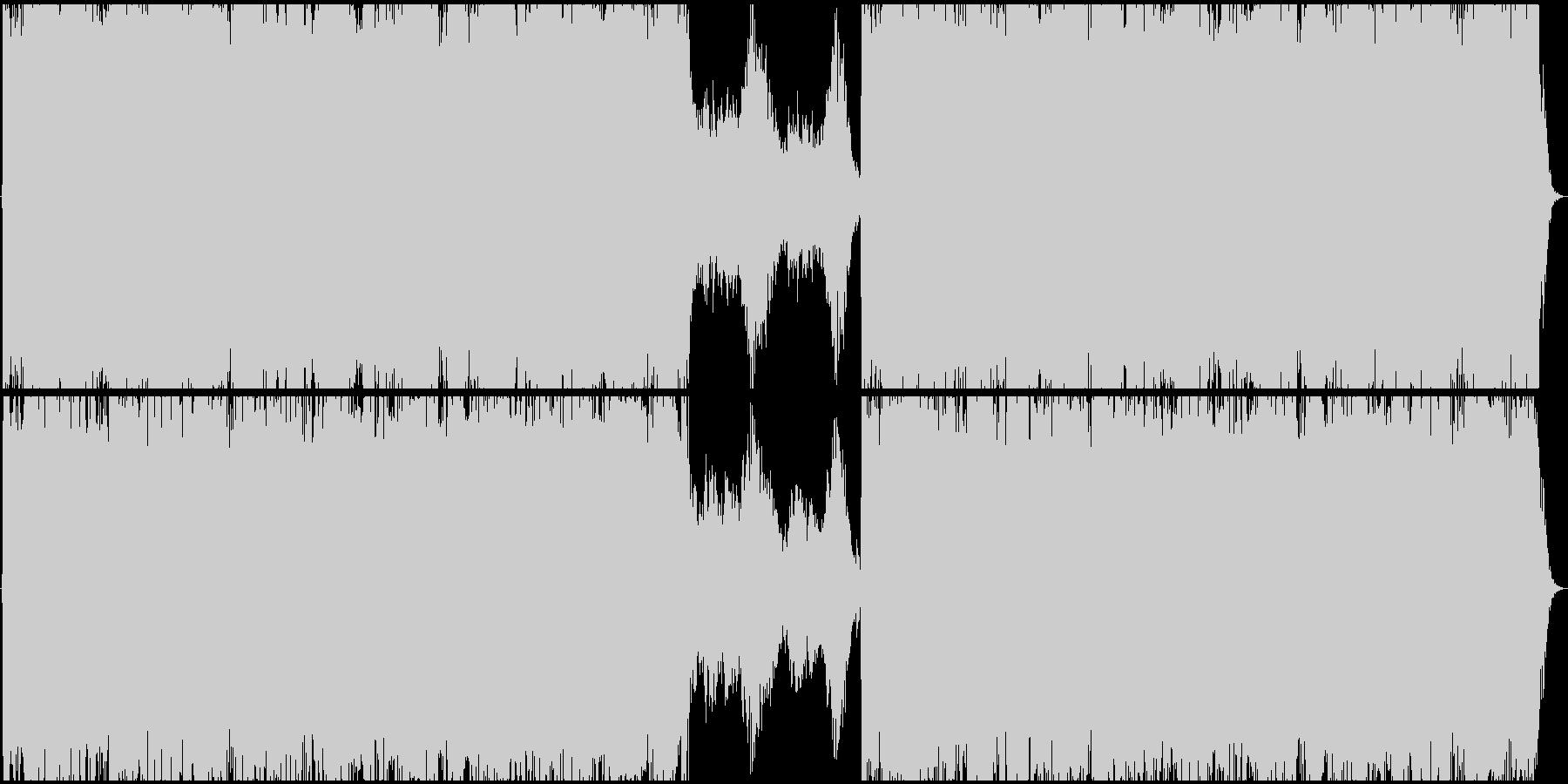 強者のBGMの様な、和風ハードロックの未再生の波形