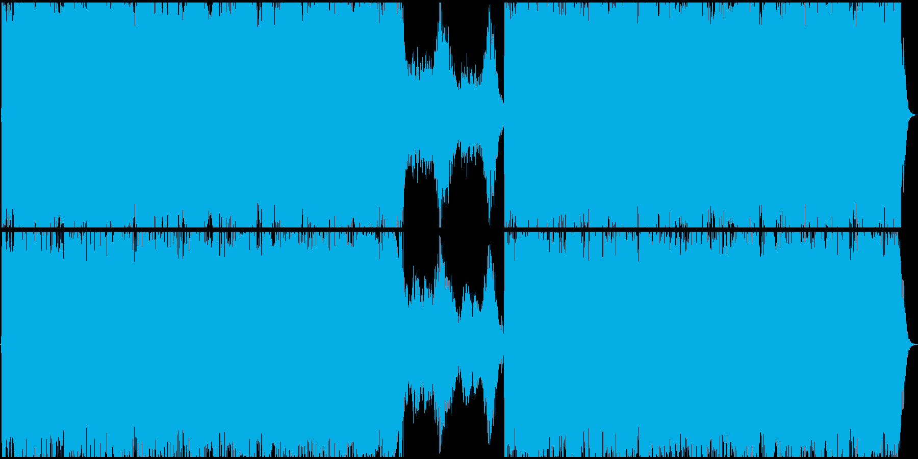 強者のBGMの様な、和風ハードロックの再生済みの波形