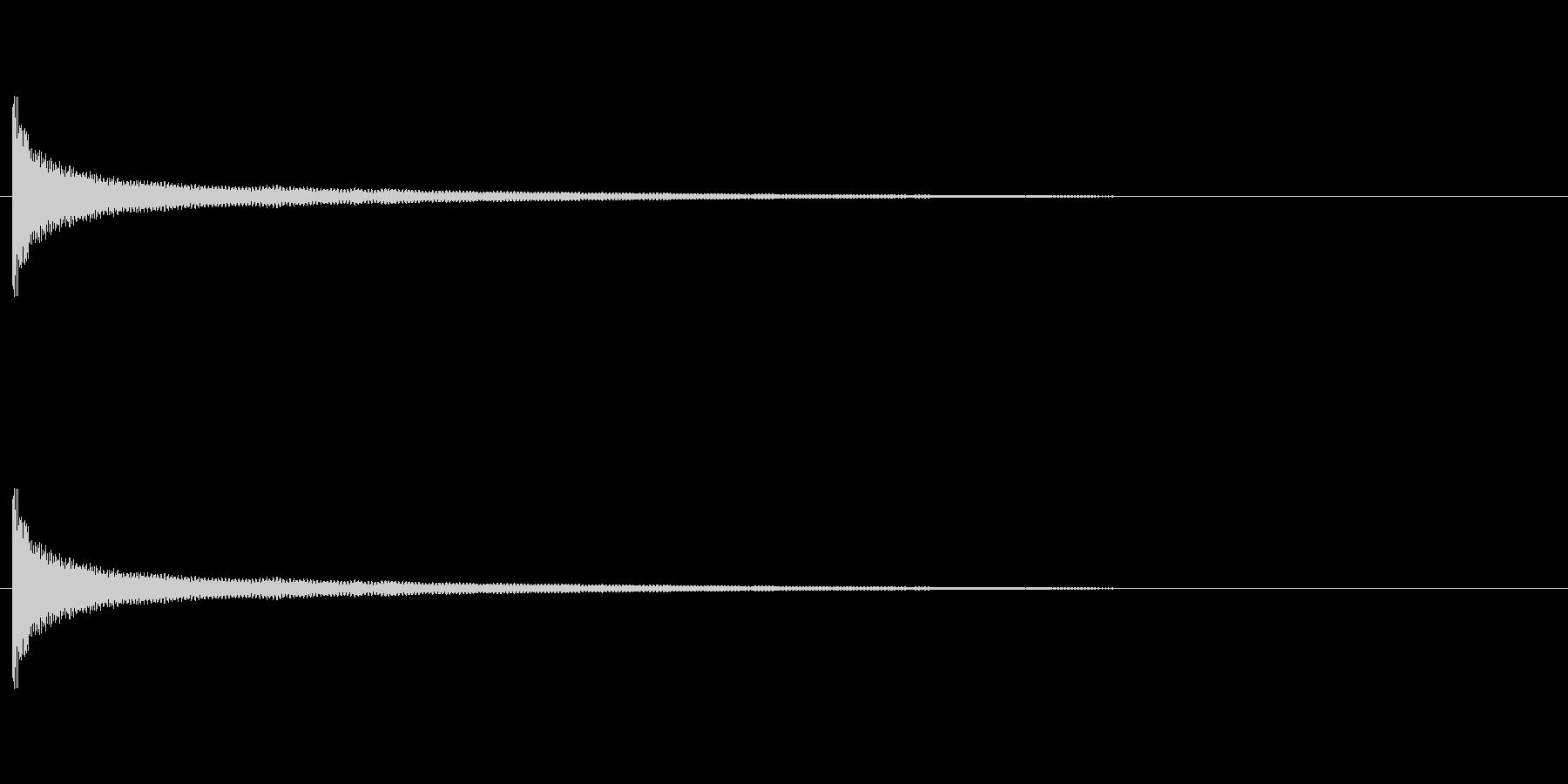 音侍「チリーン」お鈴(風鈴)の情緒的な音の未再生の波形