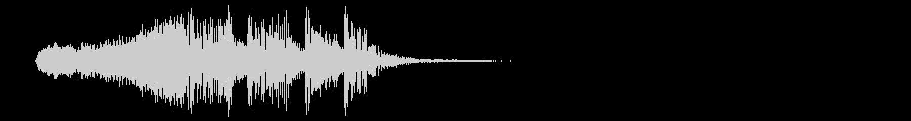 疾走感溢れる高速ビートジングルの未再生の波形