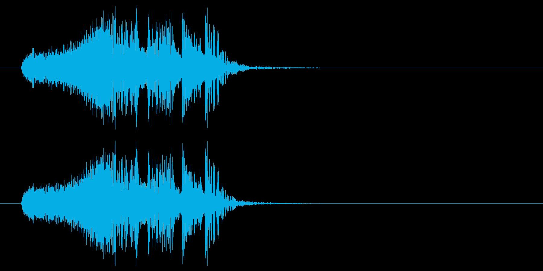 疾走感溢れる高速ビートジングルの再生済みの波形