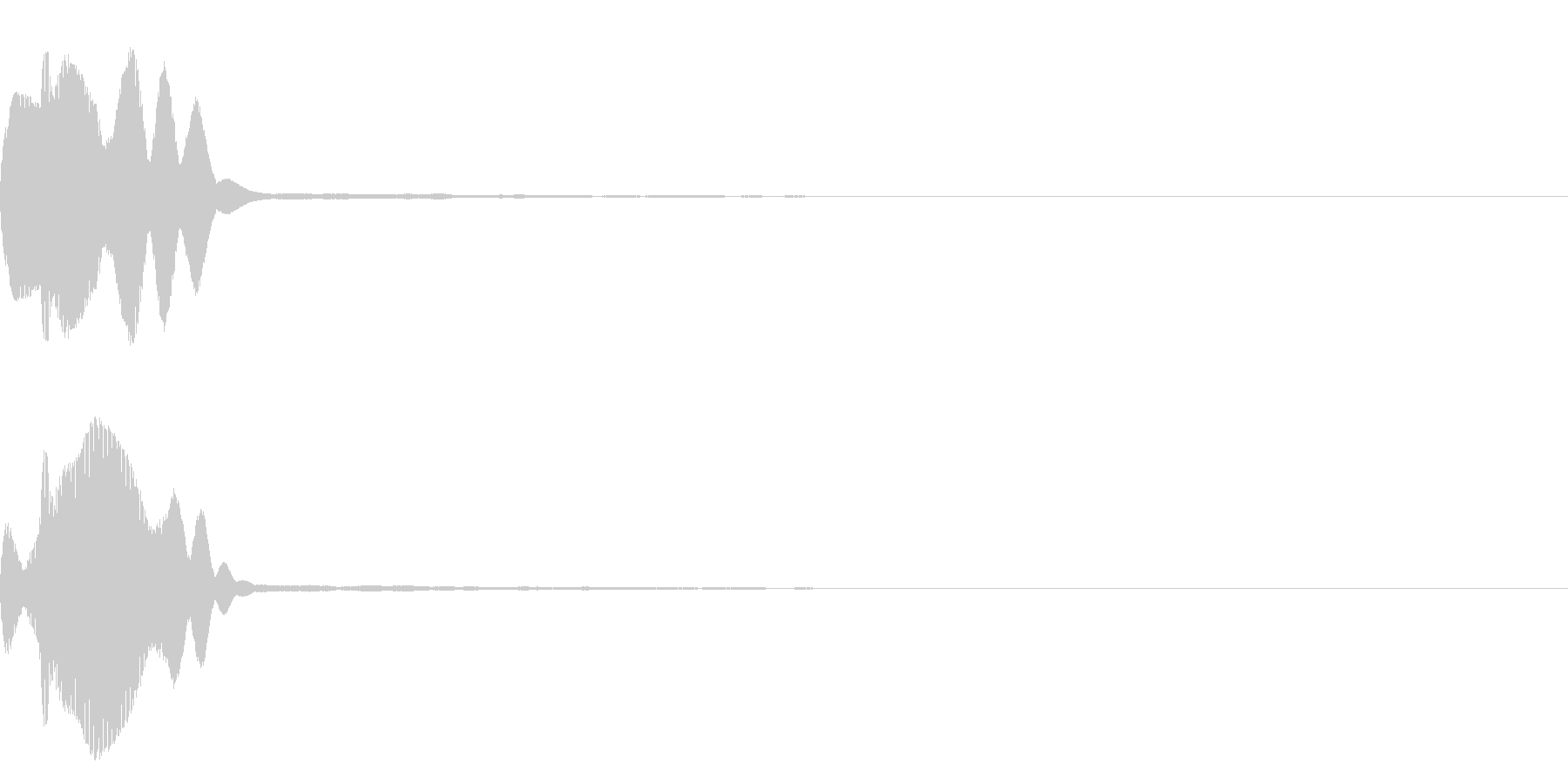 決定音39_シンセQの未再生の波形