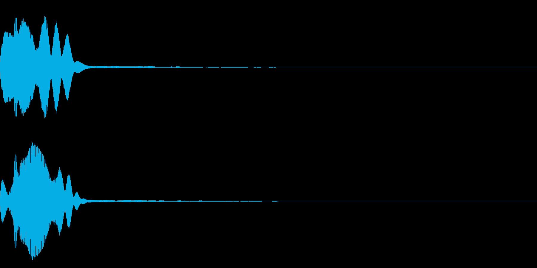 決定音39_シンセQの再生済みの波形