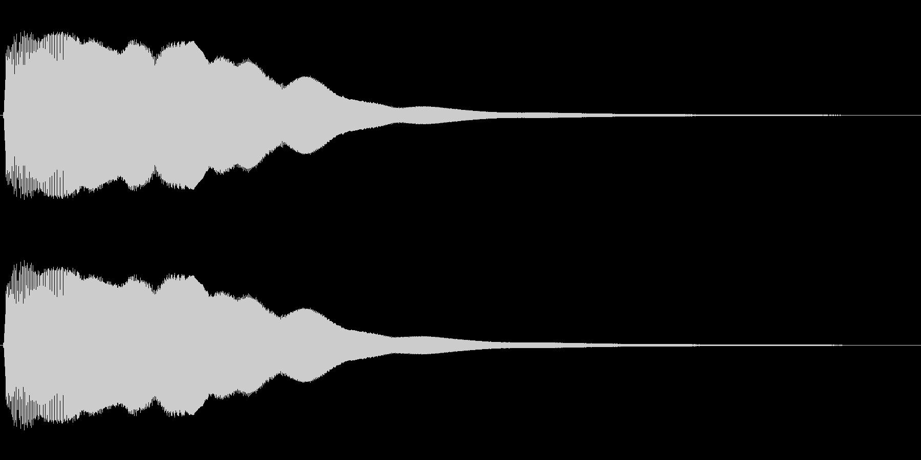 ビュ〜ン、ピュ〜ン(コミカルな効果音)の未再生の波形