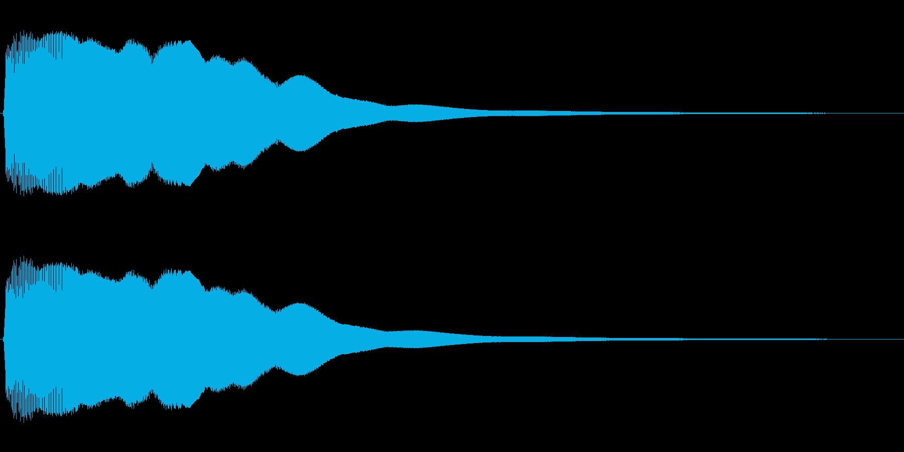 ビュ〜ン、ピュ〜ン(コミカルな効果音)の再生済みの波形