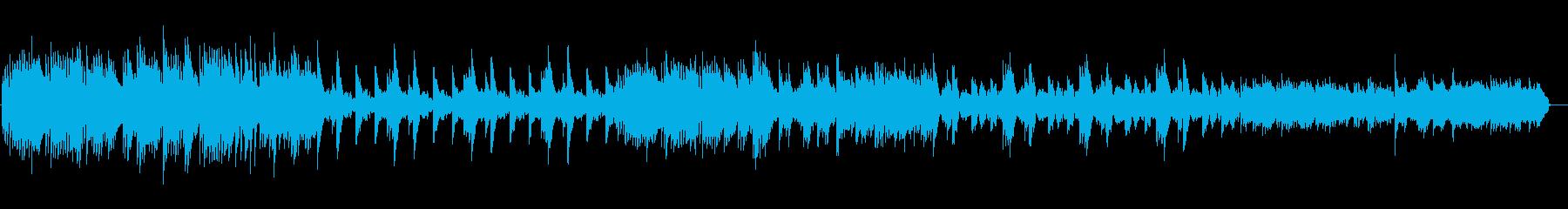 ピアノバラードの再生済みの波形
