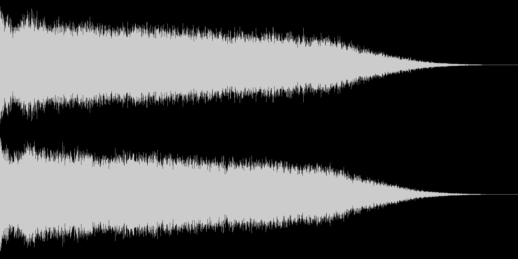 ホラー系アタック音44の未再生の波形
