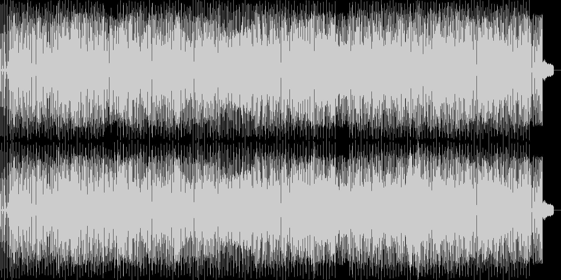 ベースとドラムによるファンクミュージックの未再生の波形