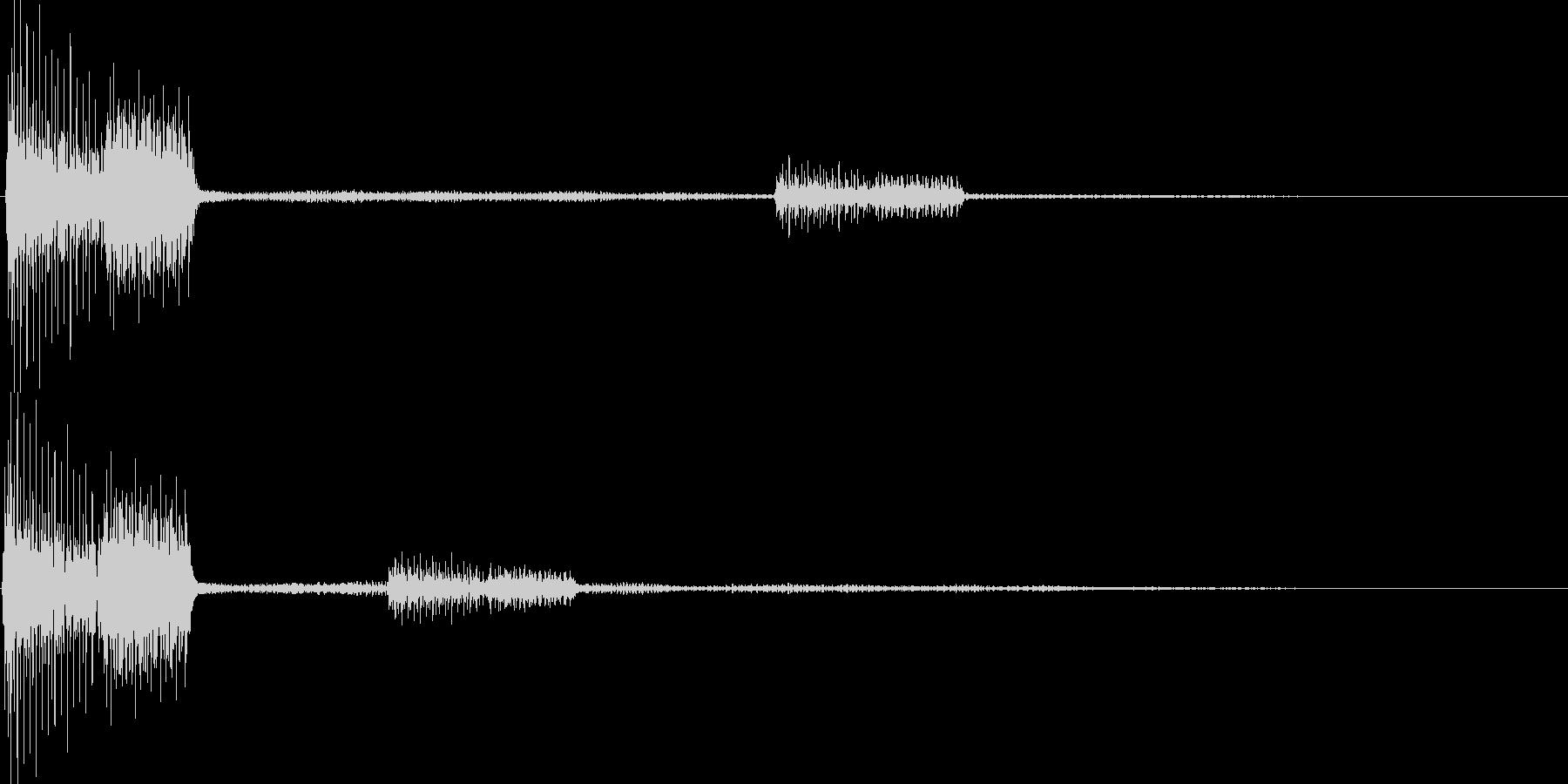 ピロッ(カーソル移動 決定 選択)の未再生の波形