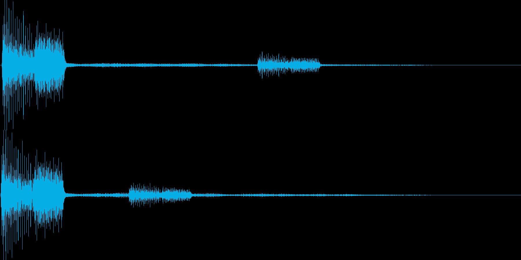 ピロッ(カーソル移動 決定 選択)の再生済みの波形