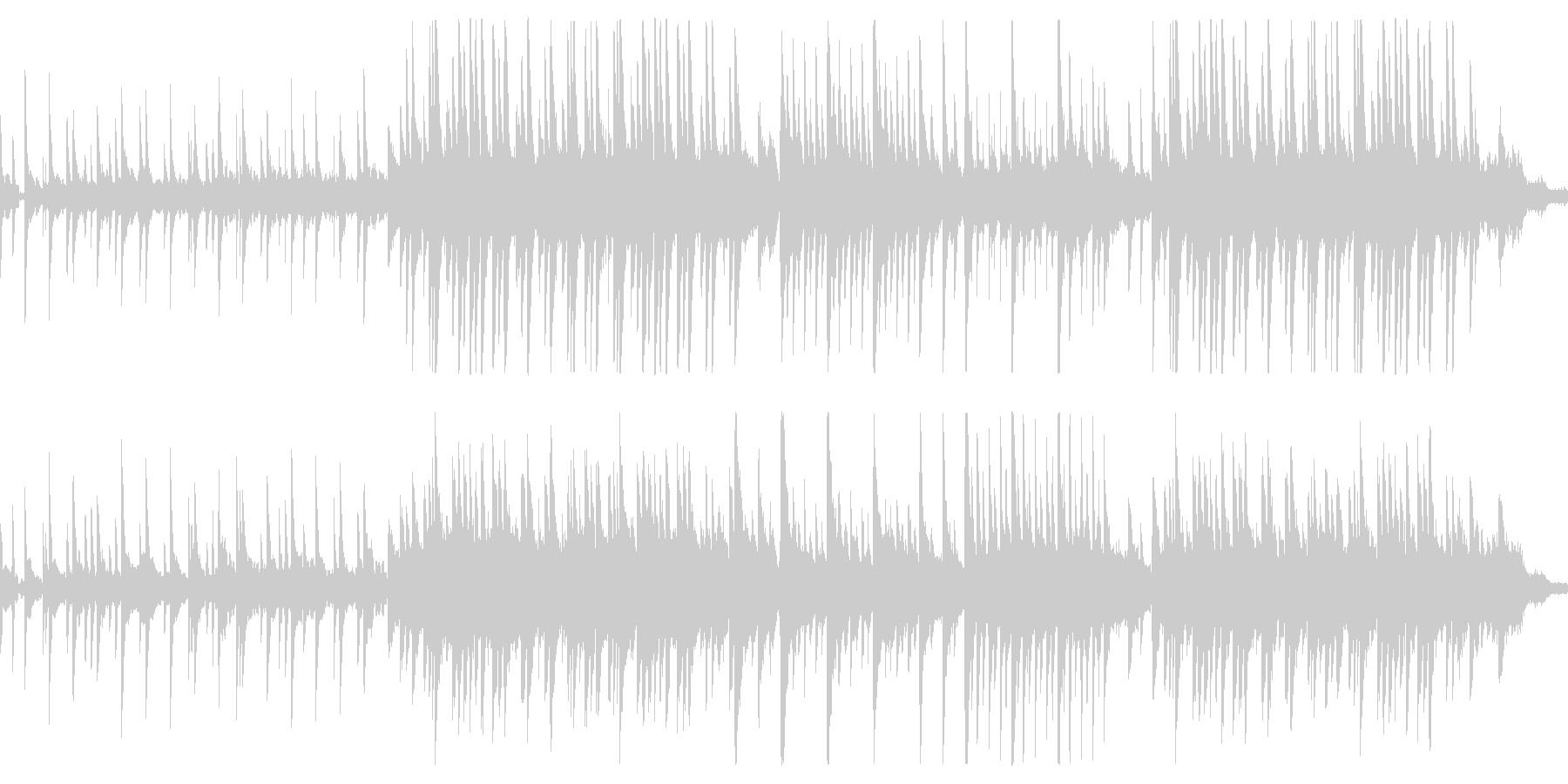 悲しい旋律のピアノバラードの未再生の波形
