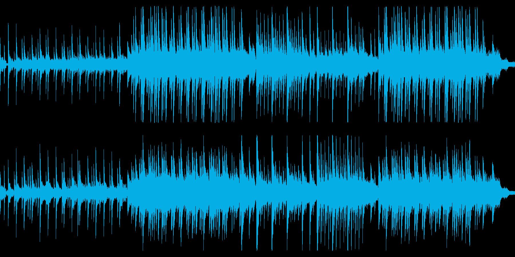 悲しい旋律のピアノバラードの再生済みの波形