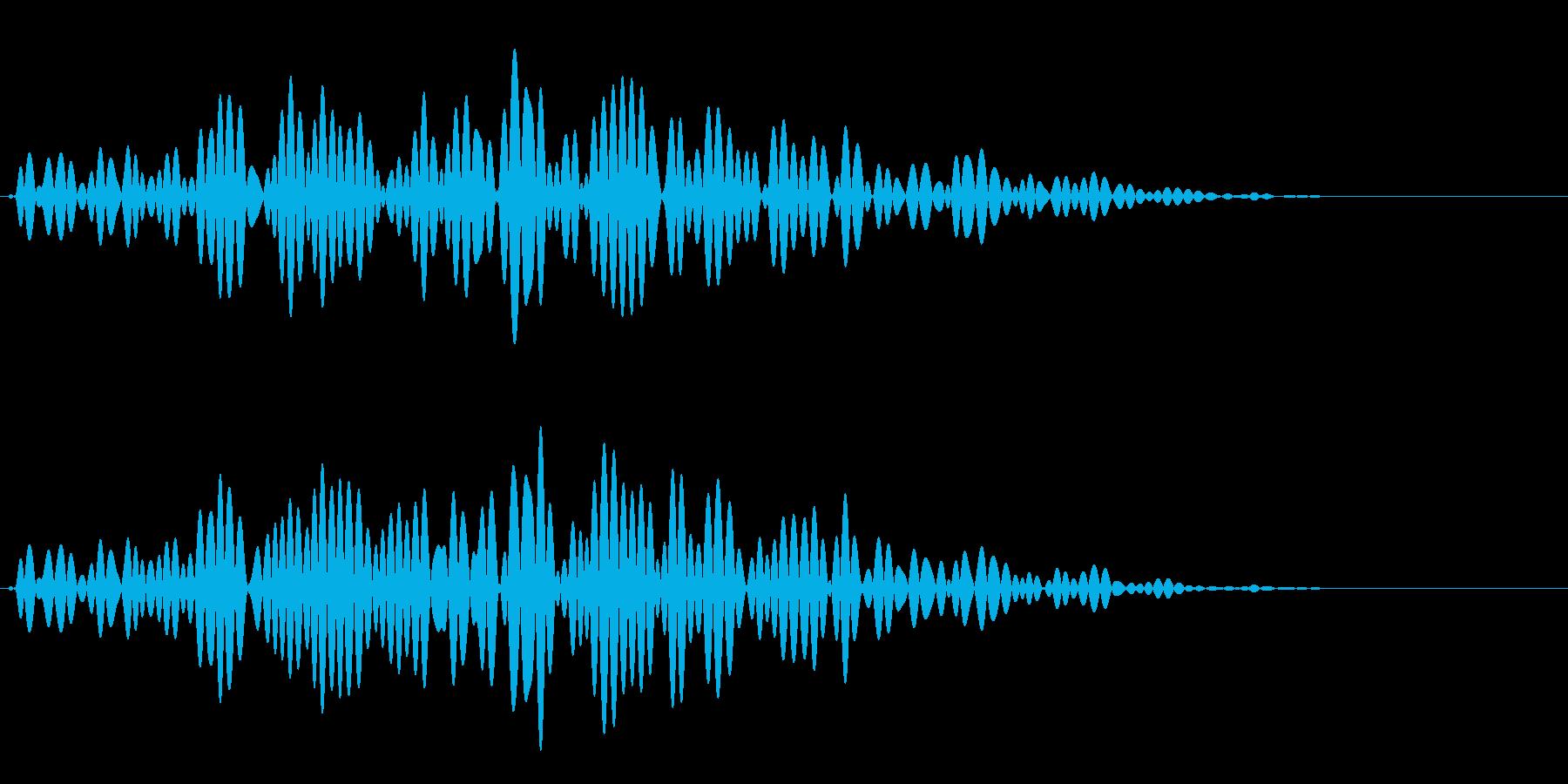 ハンマーを投げるような音です。の再生済みの波形