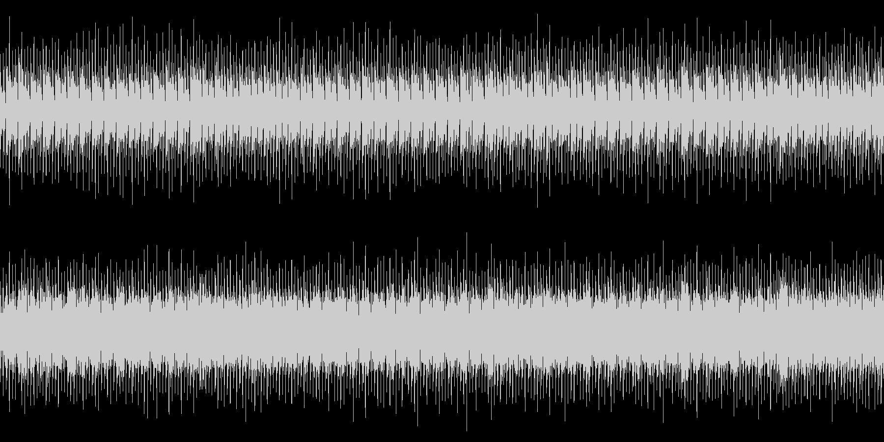 ビートの効いたBGM(ループ)の未再生の波形