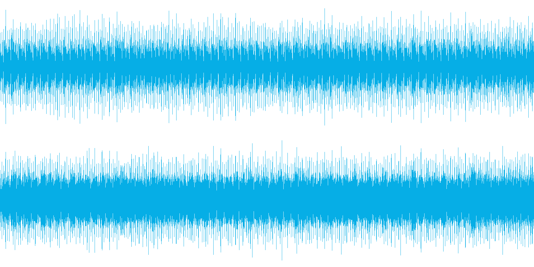 ビートの効いたBGM(ループ)の再生済みの波形