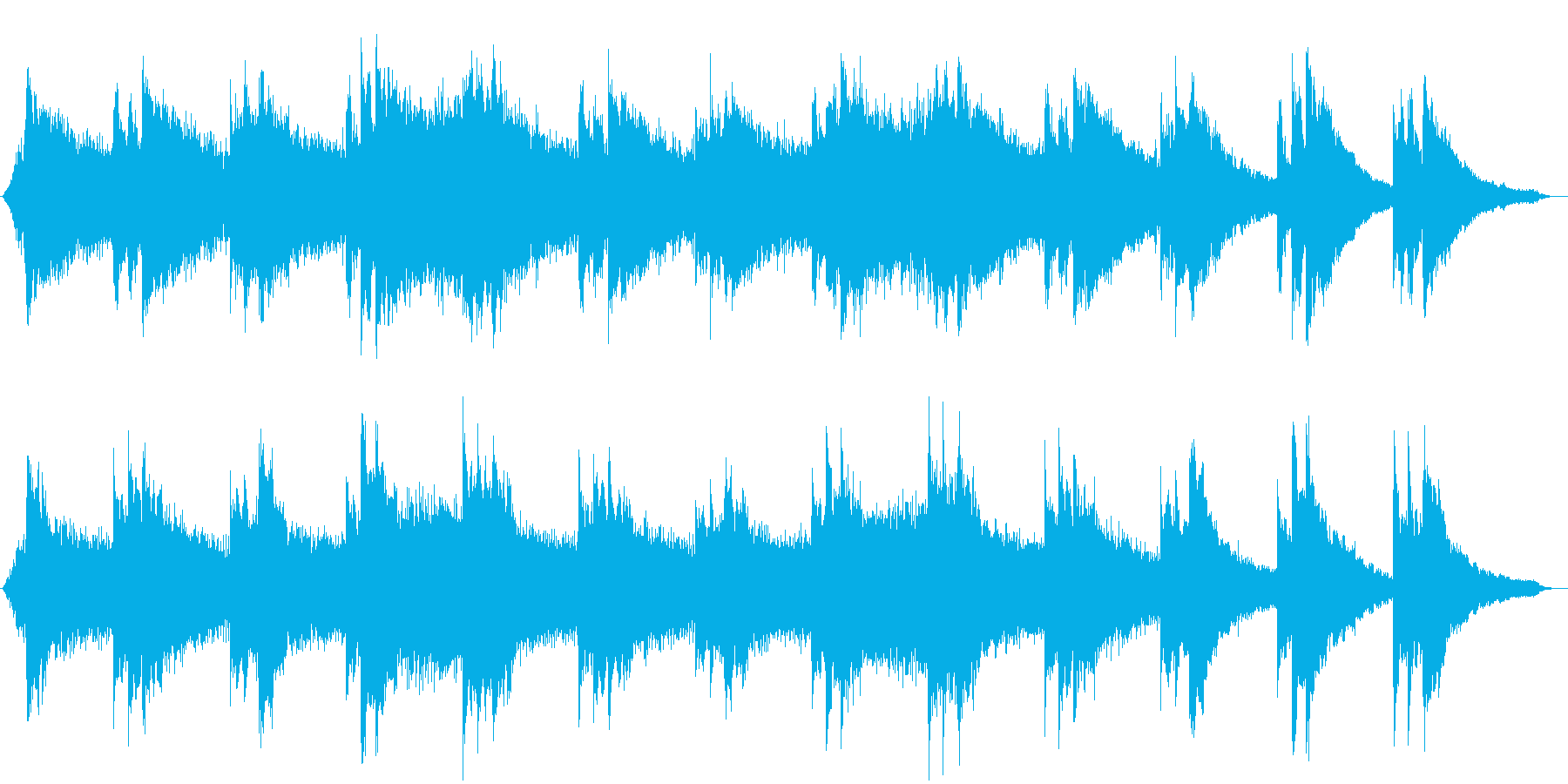 ピアノを使ったアンビエントの再生済みの波形