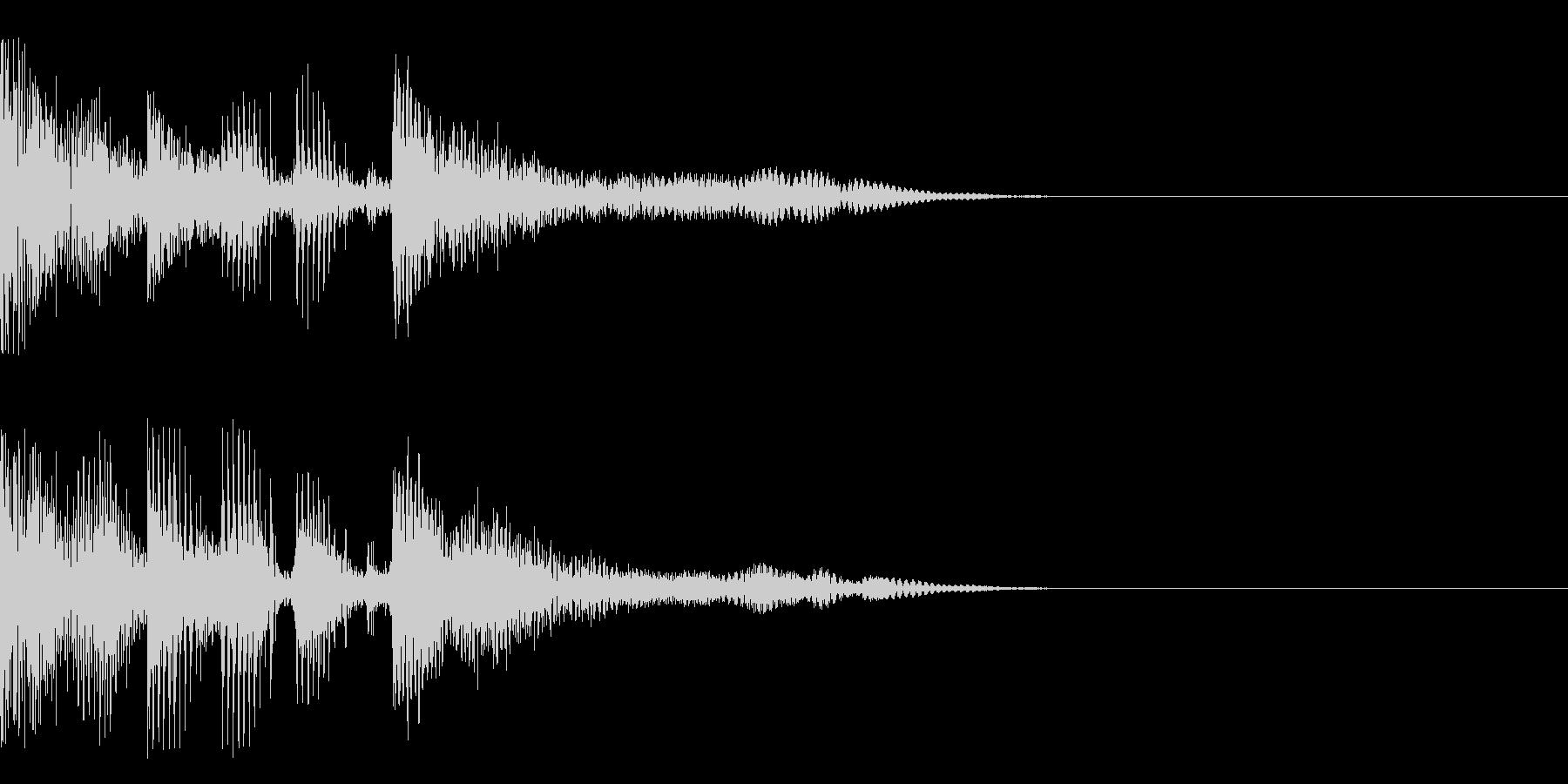 シーン移動などの未再生の波形