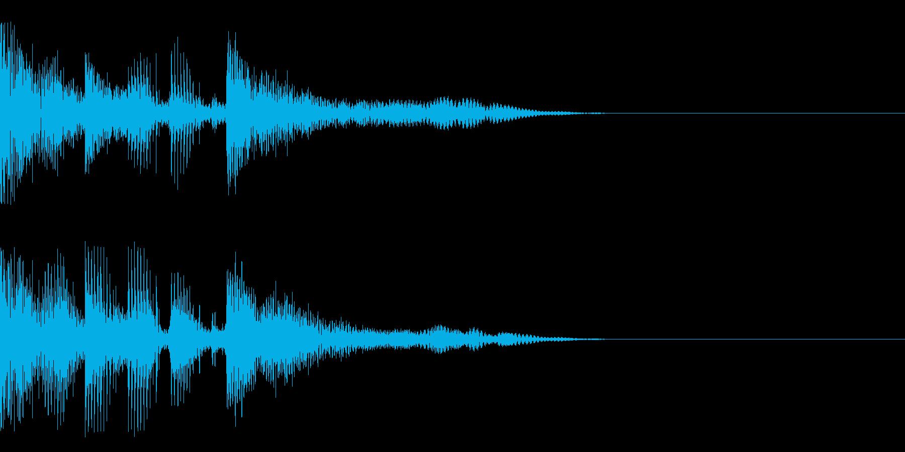 シーン移動などの再生済みの波形