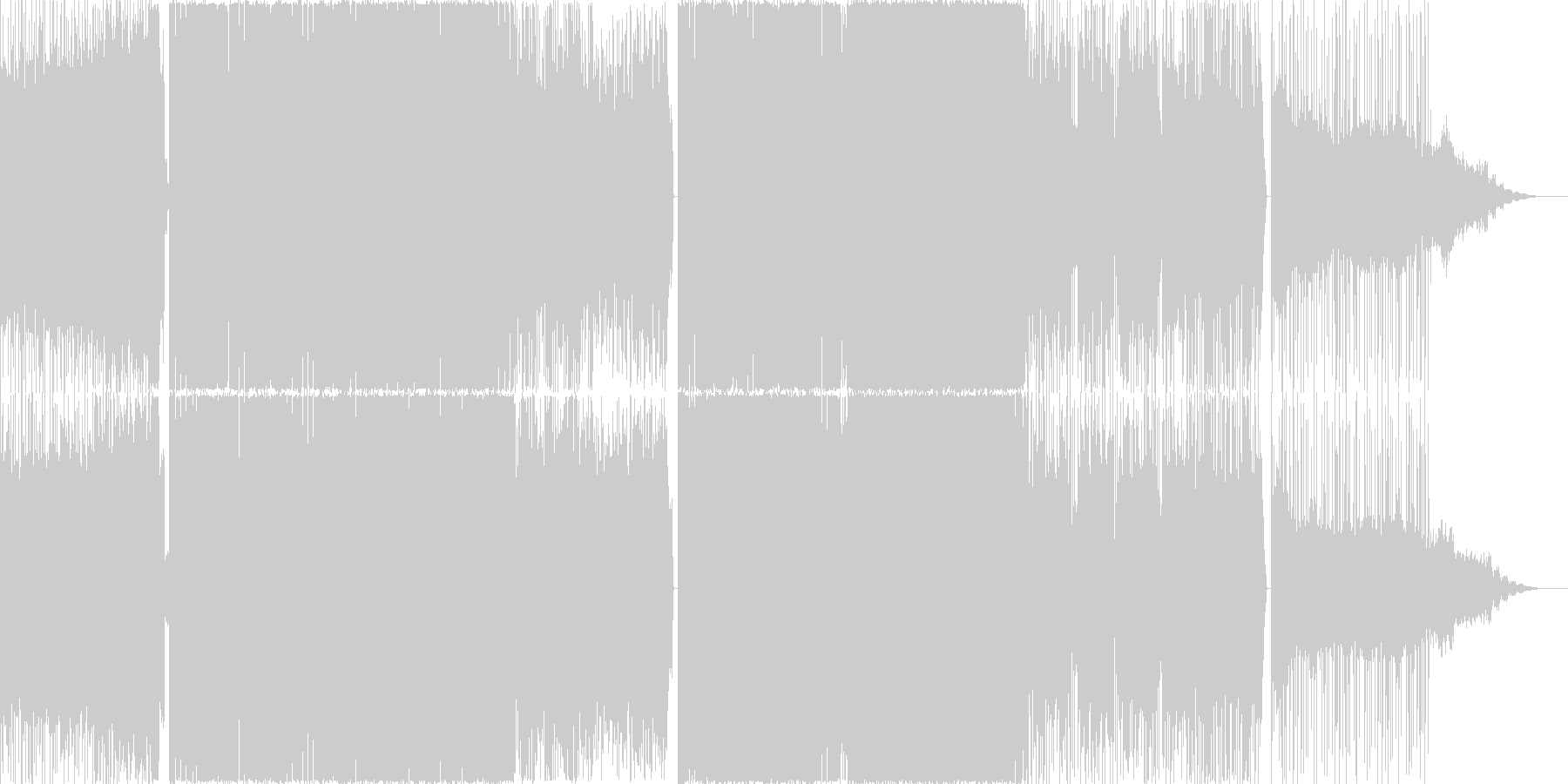 疾走感のあるEDMの未再生の波形