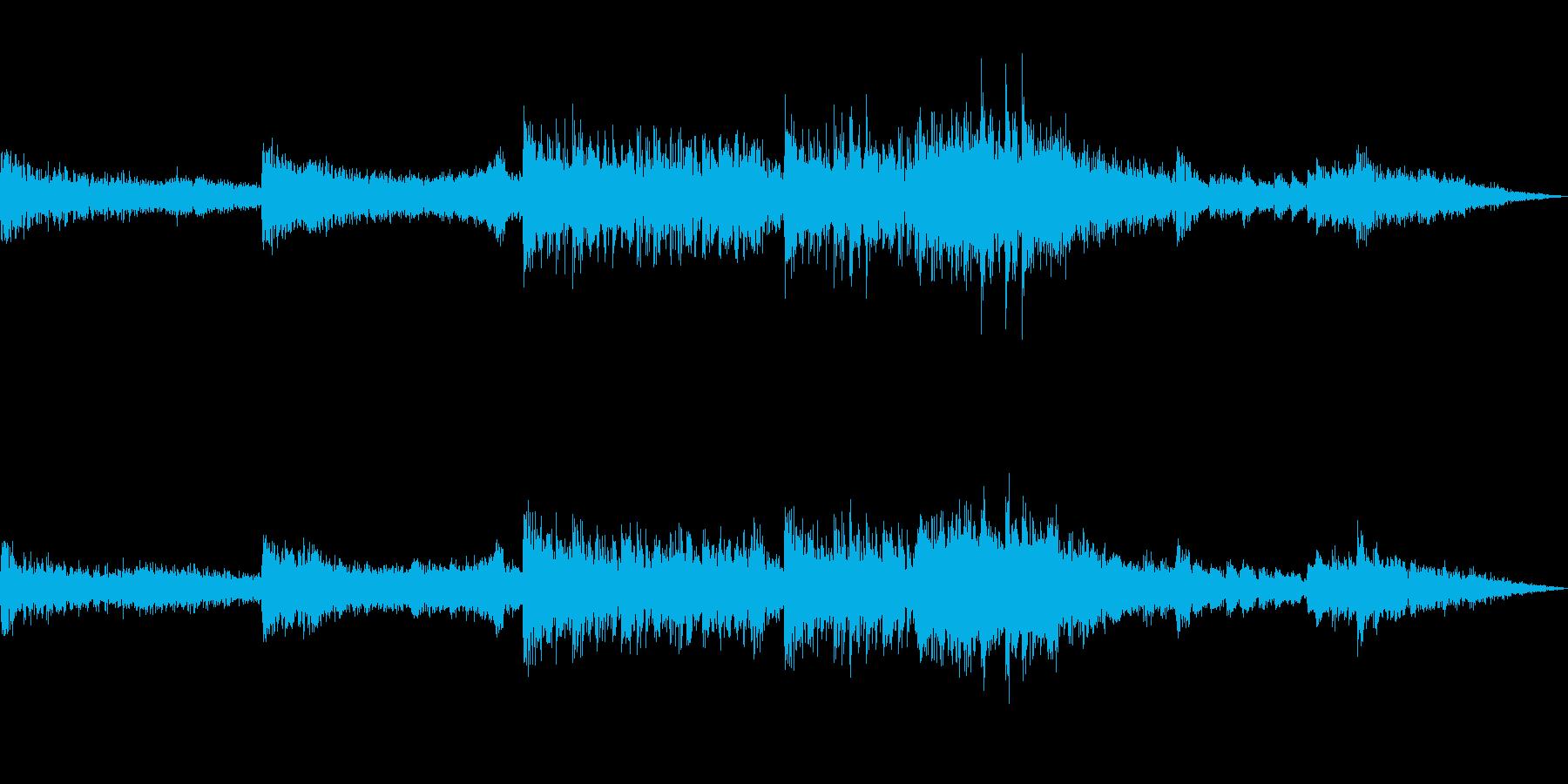 映画のトレーラーのような曲の再生済みの波形