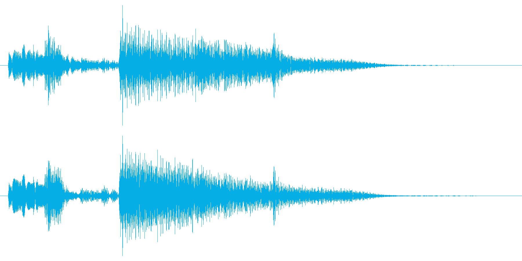 典型的なジャズ(暗め)(5秒以内)の再生済みの波形