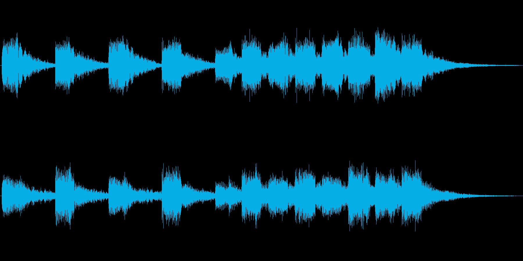 CMや映像の切り替え 転換に使えるBG…の再生済みの波形