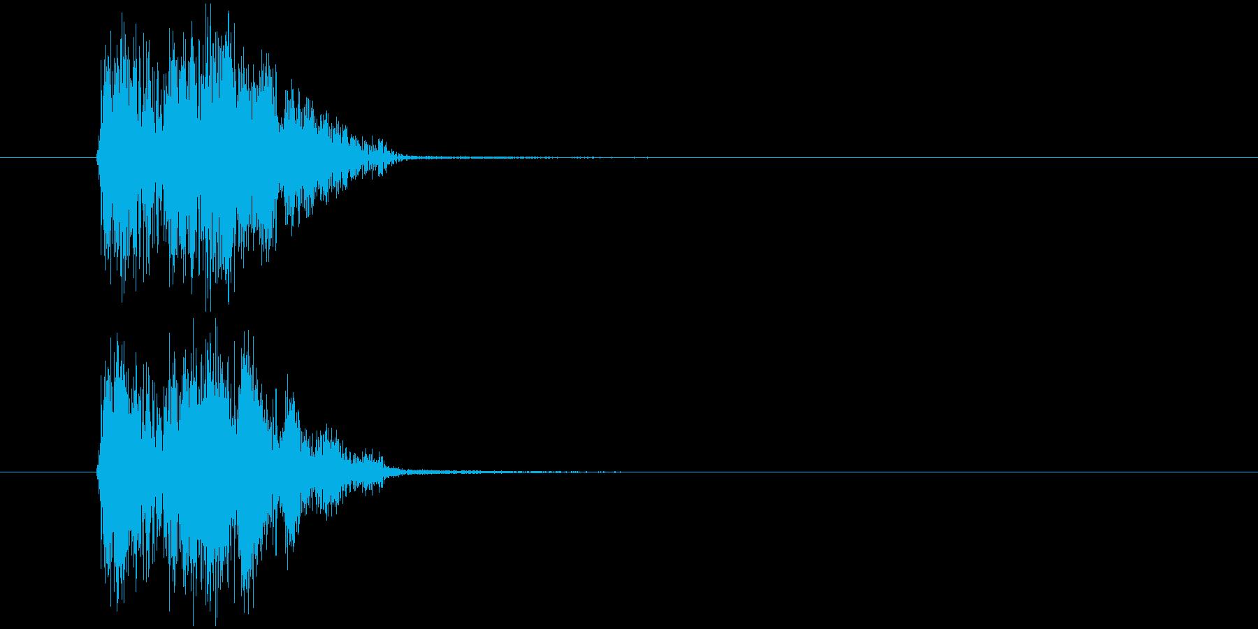汎用SE_カーソル移動ほかの再生済みの波形