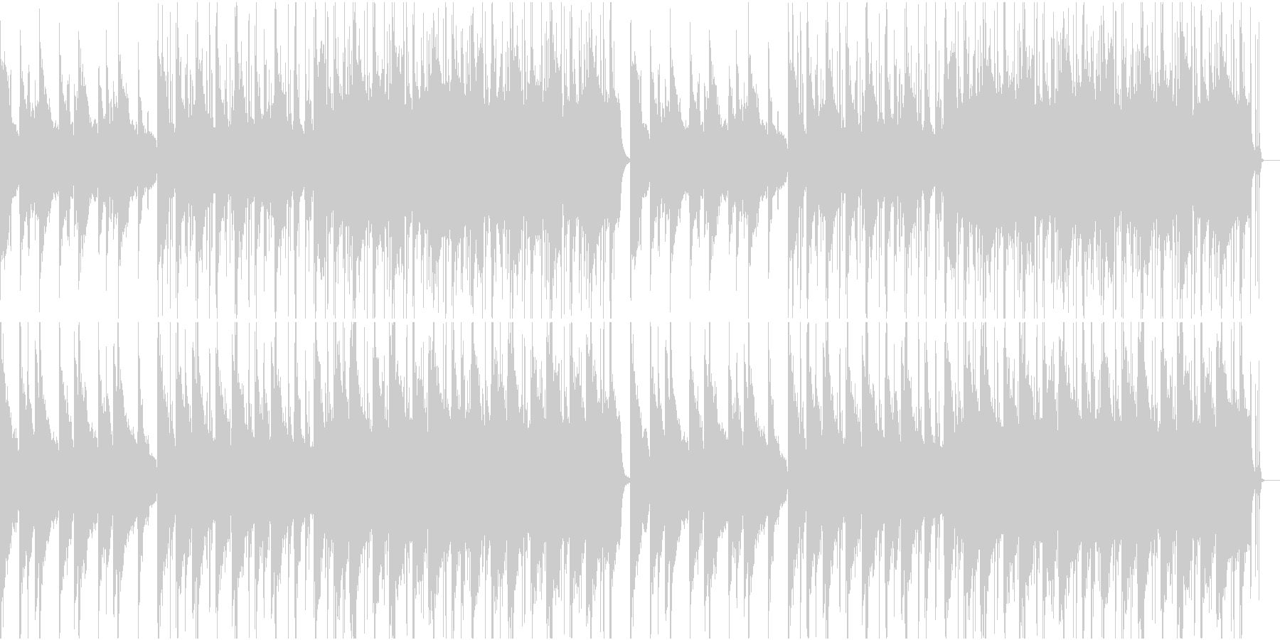 寂しげなピアノとストリングスのBGMの未再生の波形