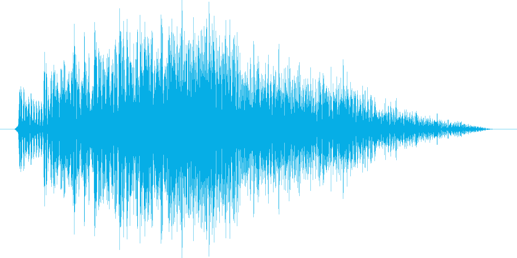 決定音(ワンコード)の再生済みの波形