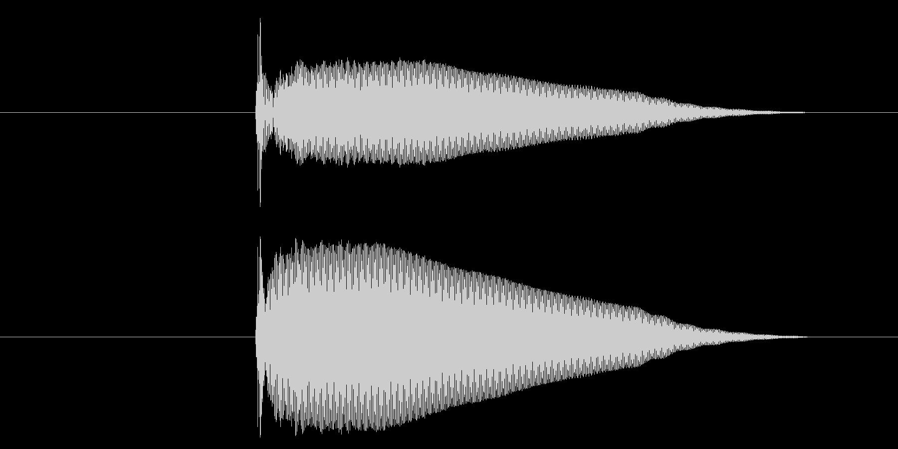 コン/選択音/UI/木の未再生の波形